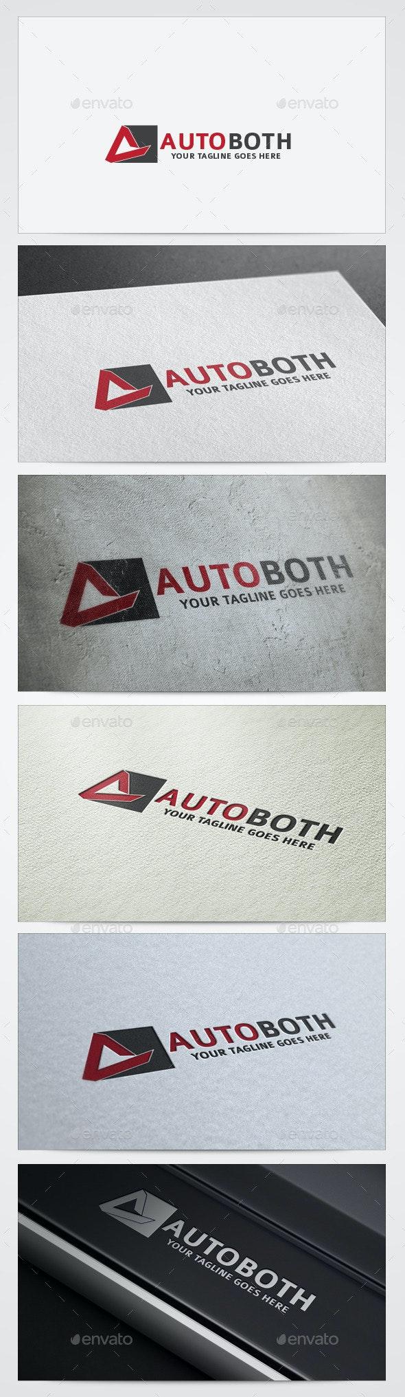 Auto Both Logos Templates - Vector Abstract