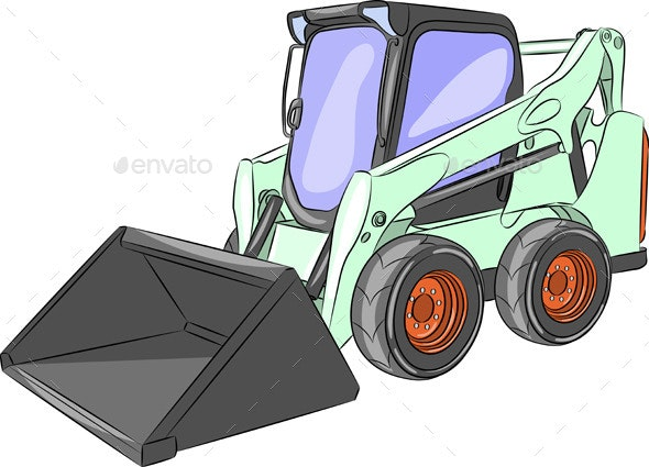 Mini Excavator - Man-made Objects Objects