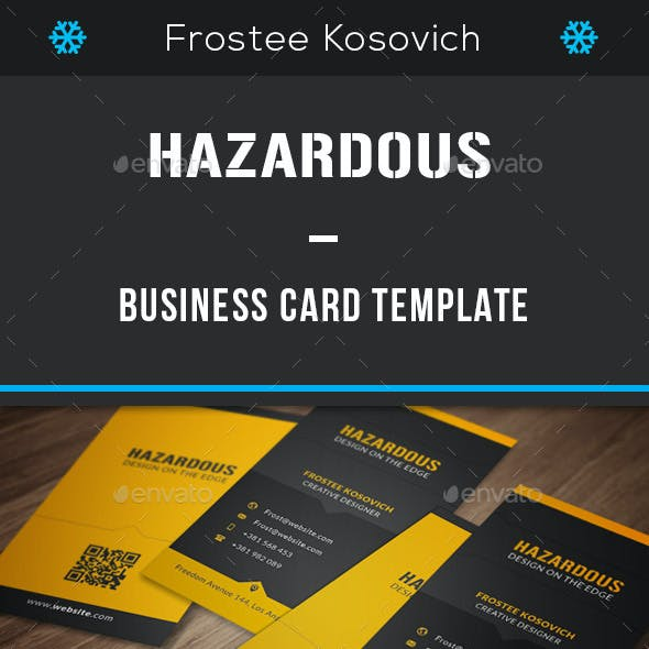 Hazardous Business Card Template