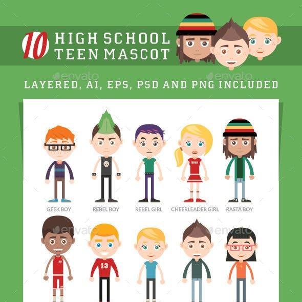 10 High School Teen Mascot