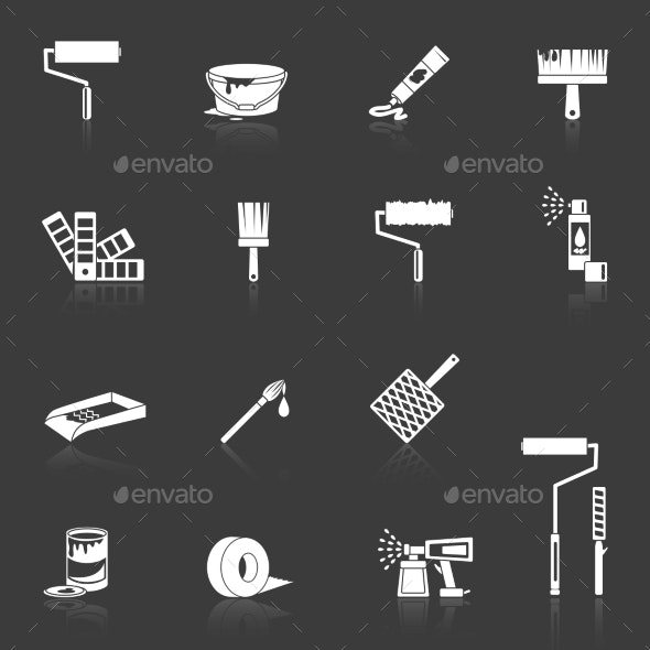 Painting Icons White - Web Technology