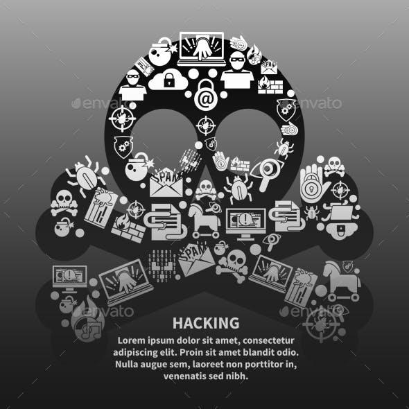 Hacker Skull Poster