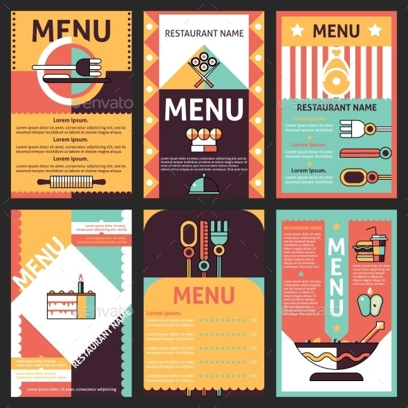 Restaurant Menu Designs - Food Objects