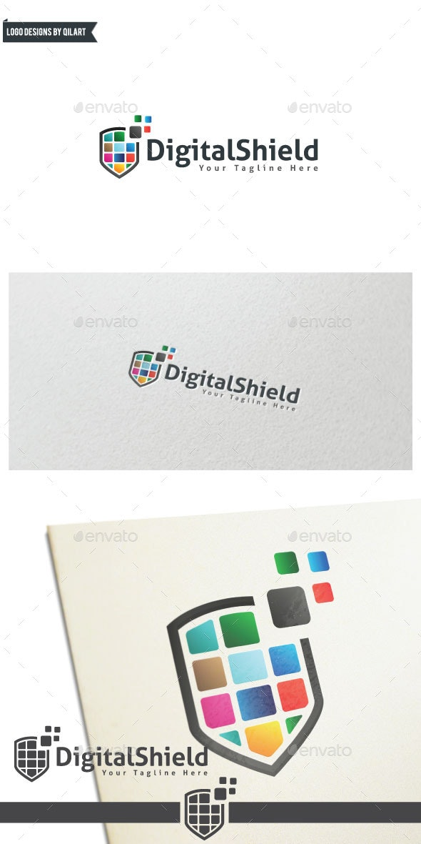 DigitalShield - Abstract Logo Templates