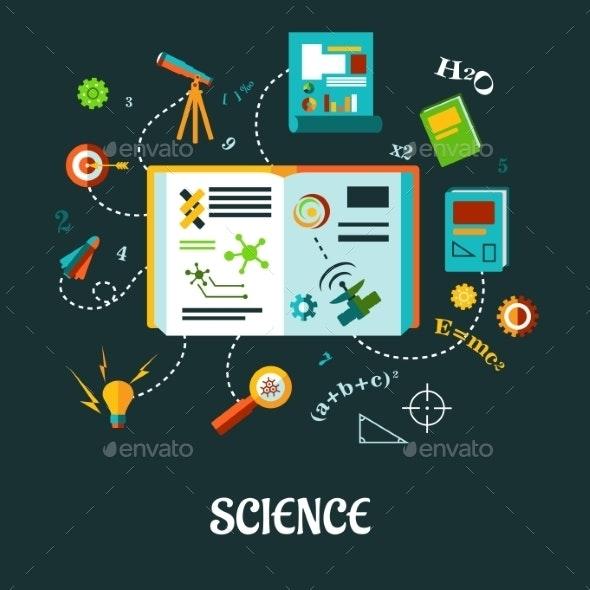 Science Flat Concept - Health/Medicine Conceptual