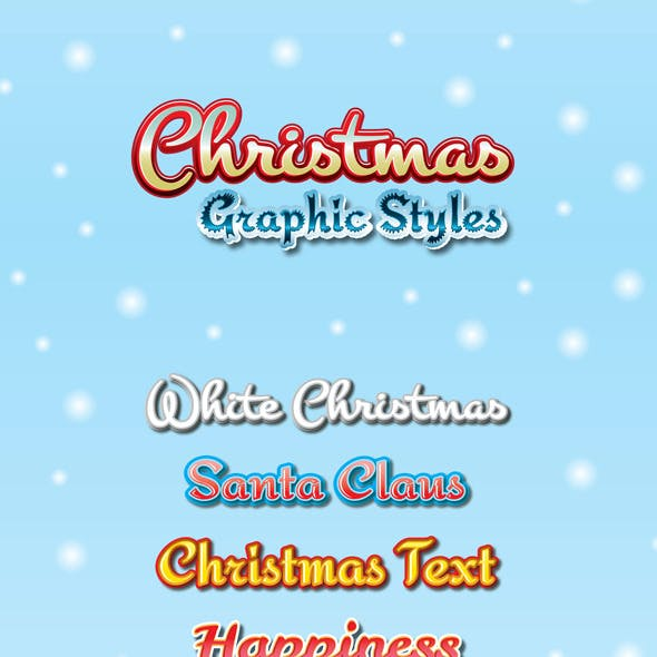 Christmas Graphic Styles for Ai