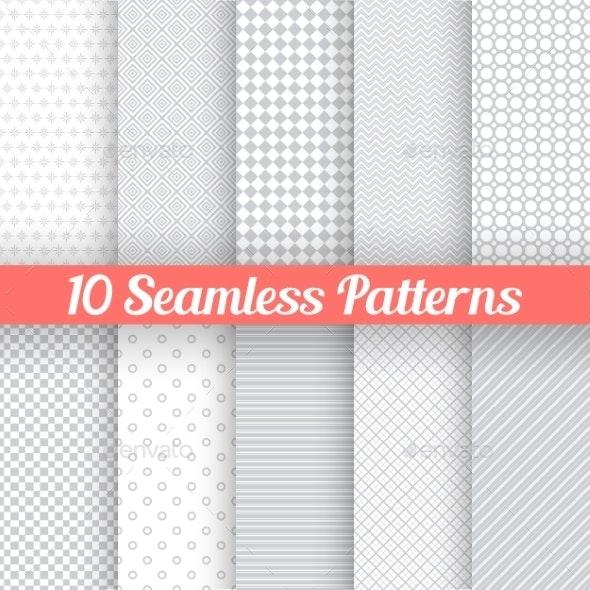 Grey Seamless Patterns - Patterns Decorative