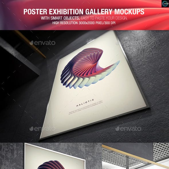 Poster Exhibition Gallery Mockups