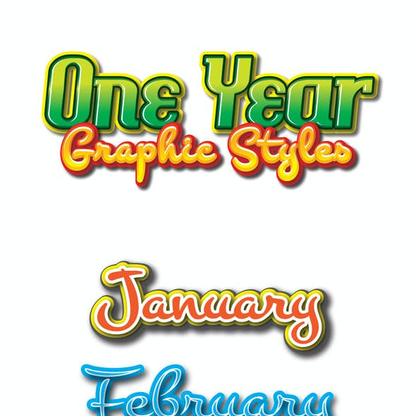 One Year Graphic Styles for Ai