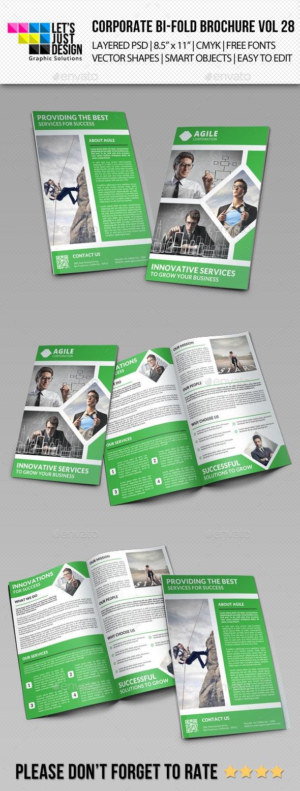 Creative Corporate Bi-Fold Brochure Vol 28 - Corporate Brochures