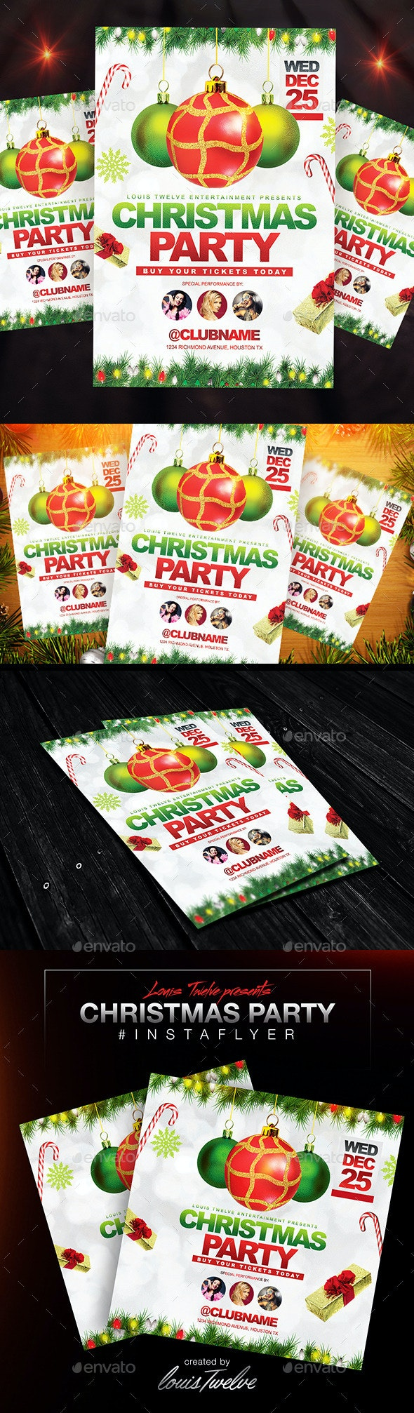 Christmas Party Flyer + Instapromo - Holidays Events