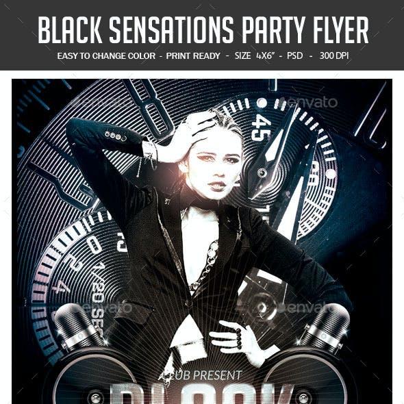 Black Sensations Party Flyer