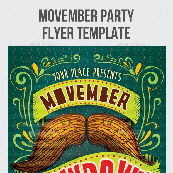 Movember Showdown Party Flyer