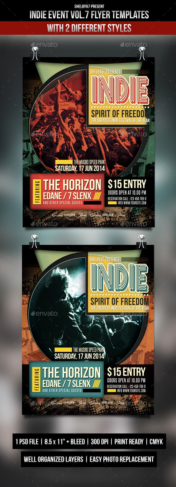 Indie Event Flyer Templates Vol.7 - Events Flyers