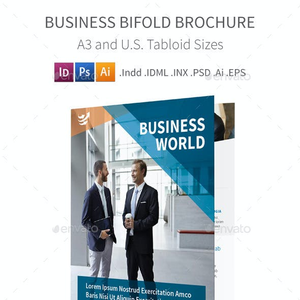 Business Bifold / Halffold Brochure