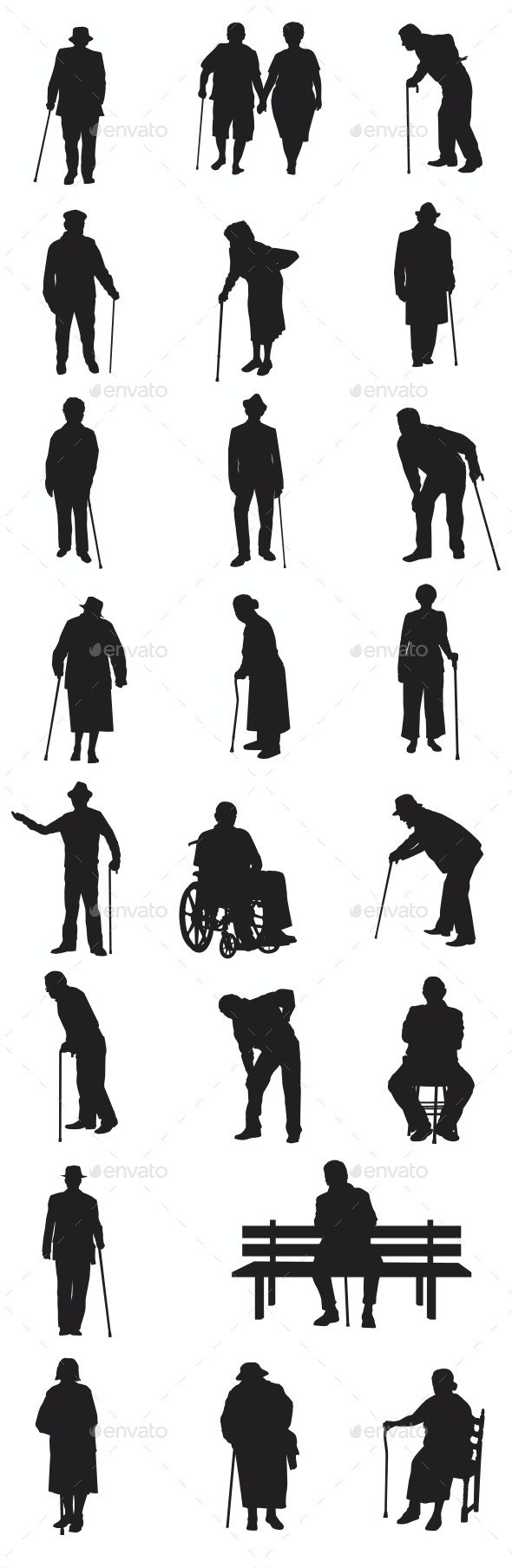Old People - People Characters