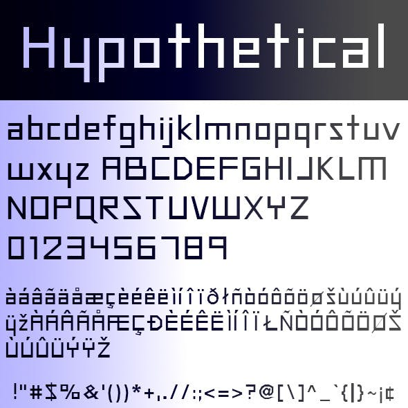 Hypothetical Regular Font