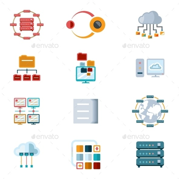 Computer Networking Icons - Computers Technology
