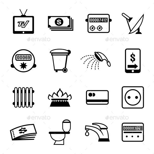 Vector Bills Icons - Industries Business