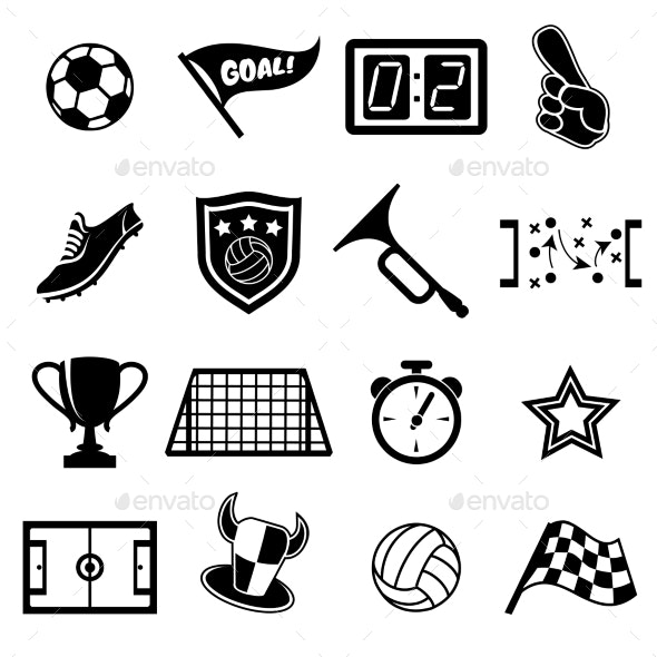 Football Fans Icons - Sports/Activity Conceptual