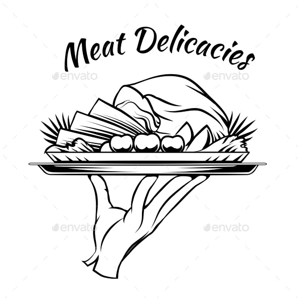 Meat Delicacies Menu Design Element - Food Objects