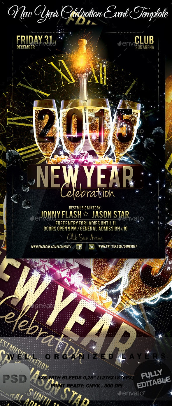 New Year Celebration Event Template - Events Flyers