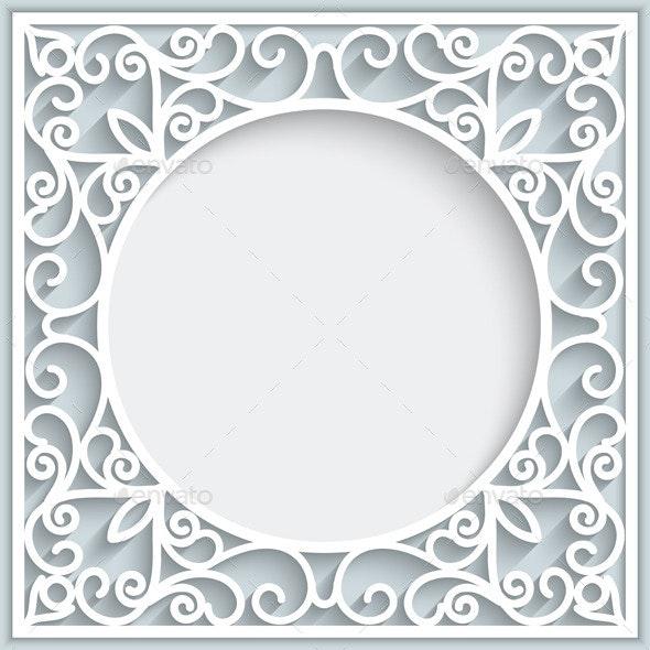 Ornamental Square Paper Frame - Backgrounds Decorative