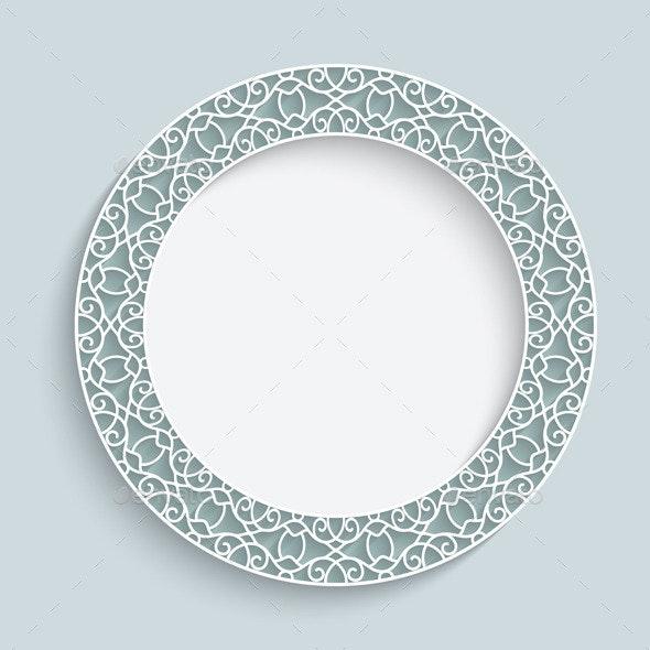 Decorative Plate - Flourishes / Swirls Decorative
