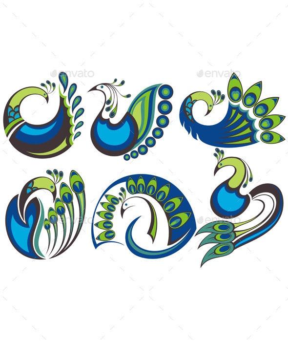 Peacock Birds - Animals Characters