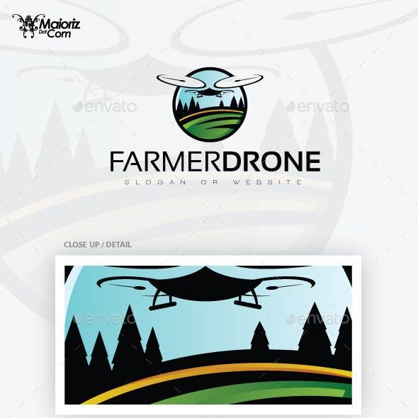 Farmer Drone Logo Template