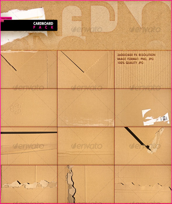 Cardboard Pack - Miscellaneous Textures