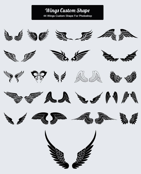 44 Wings Custom Shape - Animals Shapes