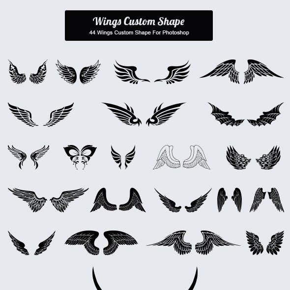 44 Wings Custom Shape