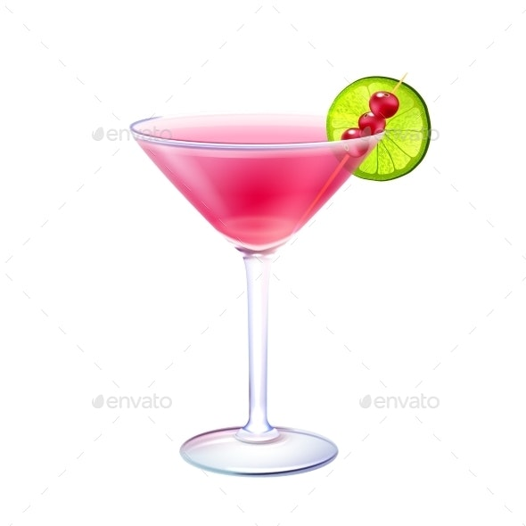Cosmopolitan Cocktail  - Food Objects