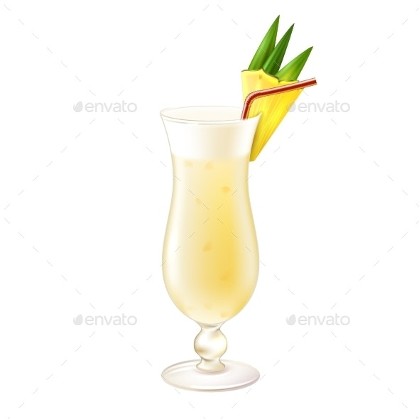 Pina Colada Cocktail - Food Objects