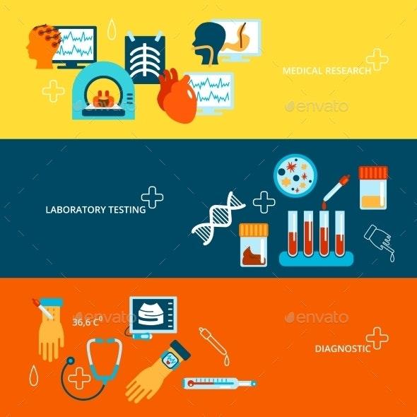 Medical Tests Banner Set - Health/Medicine Conceptual