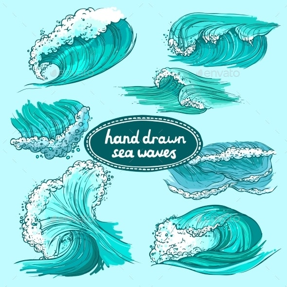 Waves Icons Set  - Nature Conceptual