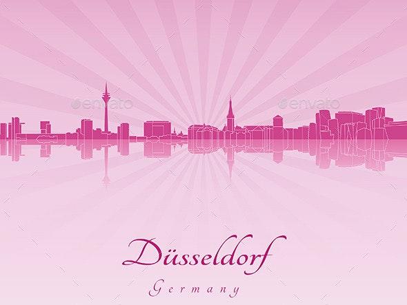 Dusseldorf Skyline - Buildings Objects