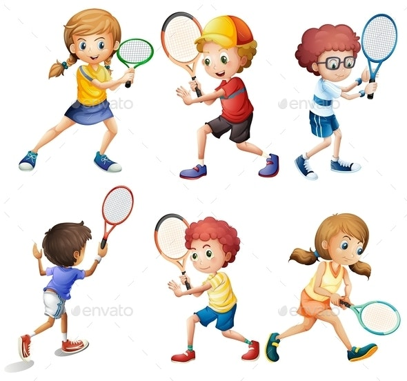 Tennis Actions - People Characters