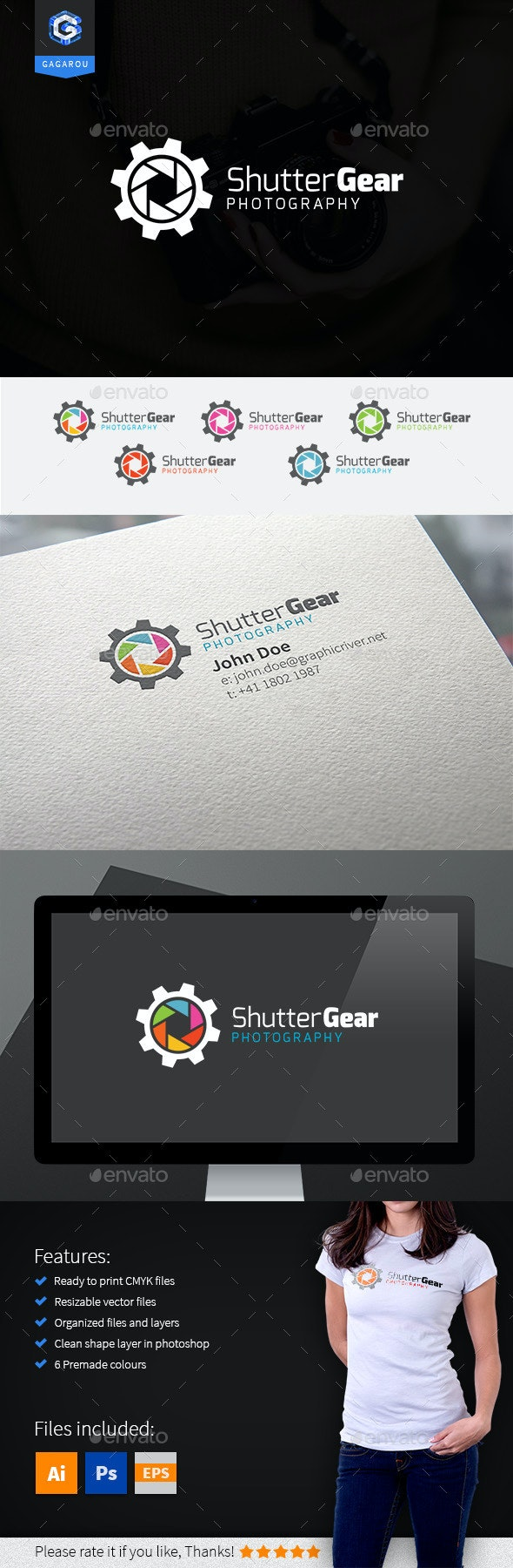 Shutter Gear Logo - Objects Logo Templates