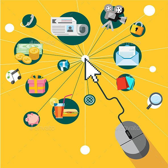 Icons Set for Web and Mobile Phone Services - Web Technology