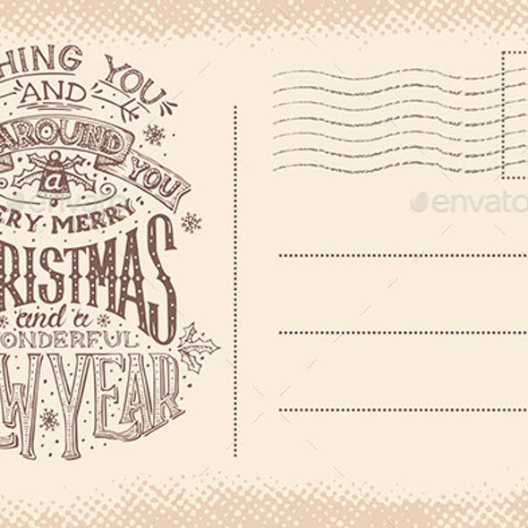 Vintage Christmas and New Year Postcard