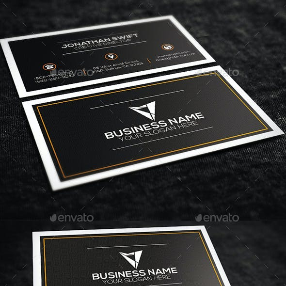 Brown Corporate Business Card