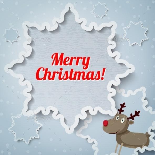 Reindeer Christmas Card - Christmas Seasons/Holidays