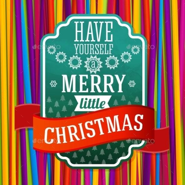 Merry Christmas Label - Christmas Seasons/Holidays