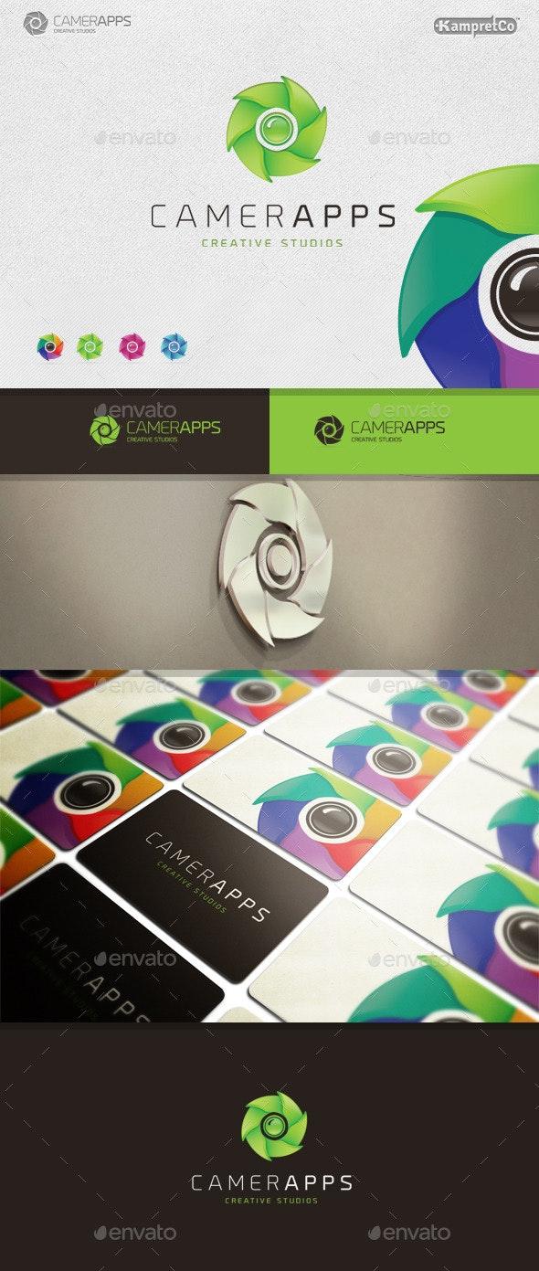 Camera App Logo - 3d Abstract