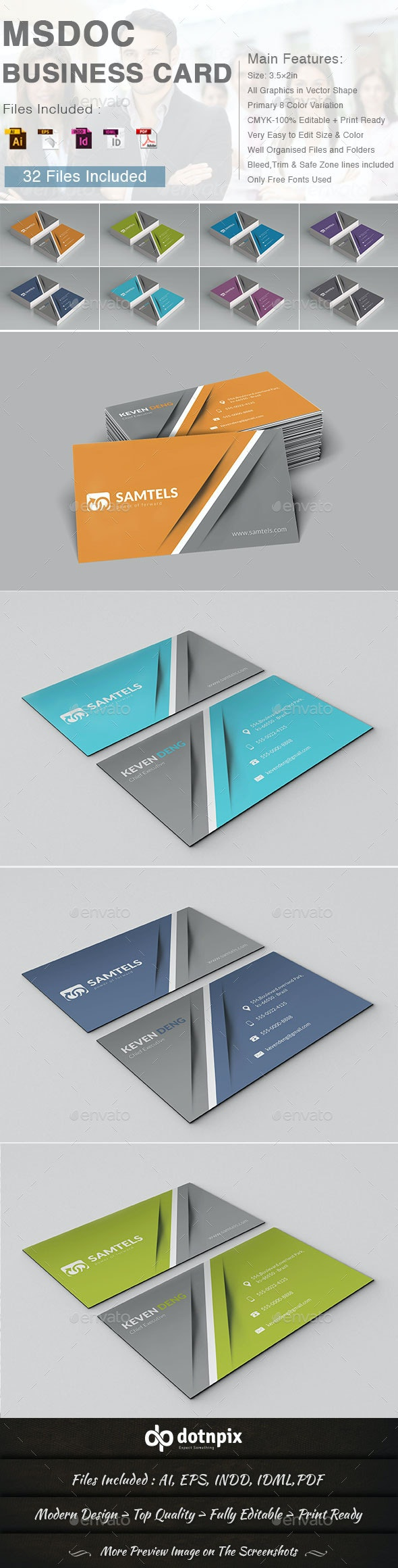 Msdoc Business Card - Corporate Business Cards