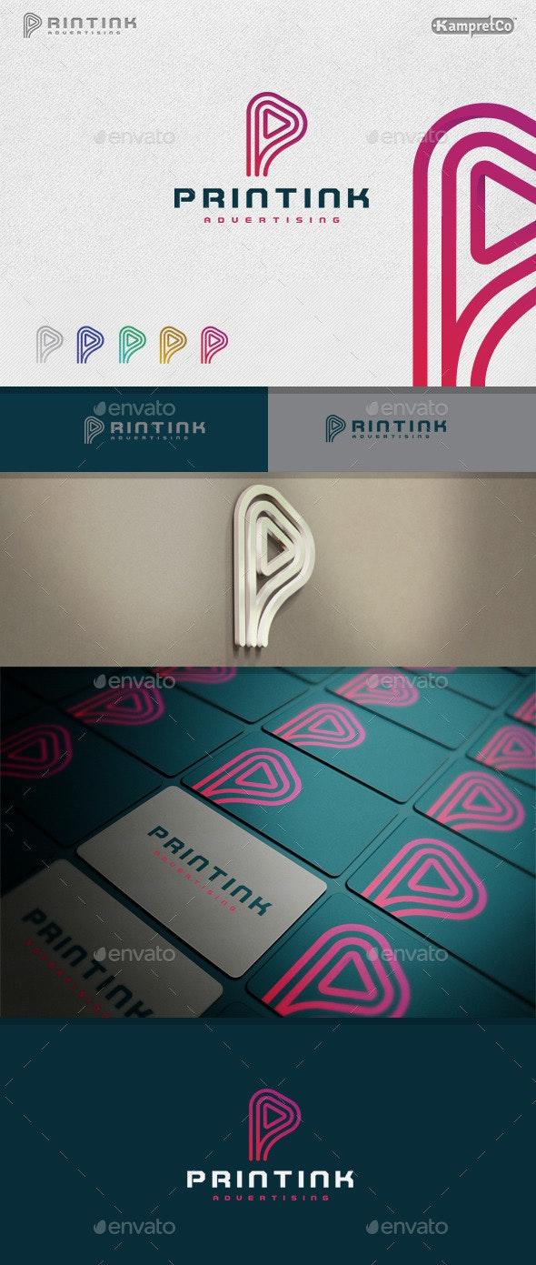 Print Ink Logo - Letters Logo Templates