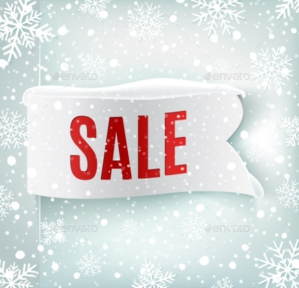 Winter Sale Background - Retail Commercial / Shopping