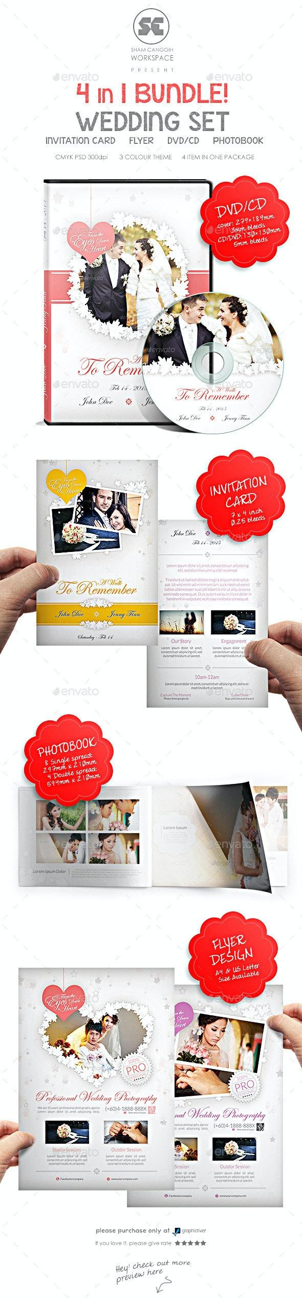 Wedding Bundle - Miscellaneous Print Templates